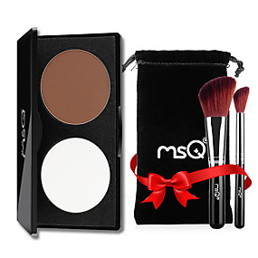 preiswerte MSQ®-2 Farben Puder Highlighter & Selbstbräuner Textmarker Trocken / Matt / Kombination Concealer Gesicht China Bilden Kosmetikum