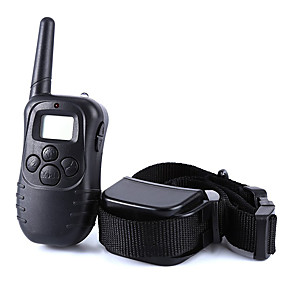 preiswerte Hundehalsbänder & Leinen-Hund Bellhalsband Training - Hundhalsbänder Anti Bark LCD Fernbedienung Solide Kunststoff Schwarz