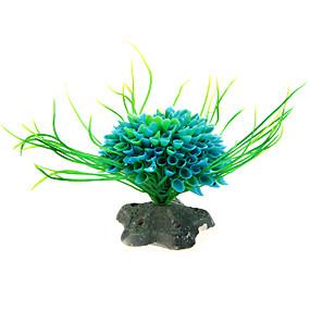 preiswerte Aquarium Deko & Kiesel-Aquarium Aquarium Dekoration Fisch Glas Verzierungen Künstliche Pflanzen Kunststoff