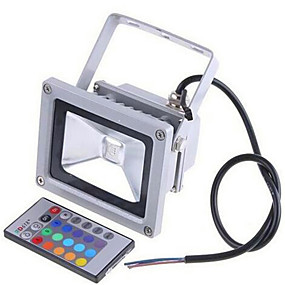 cheap Outdoor Lighting-LED Floodlight Waterproof Remote Controlled Dimmable RGB 12 V 24 V 85-265 V Outdoor Lighting 1 LED Beads