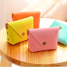 preiswerte Taschen & Geldbörsen-Macarons Farbe PU-Leder Portemonnaie