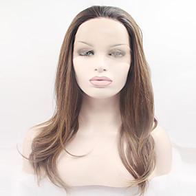 preiswerte OUO®-Synthetische Lace Front Perücken Natürlich gewellt Natürlich gewellt Spitzenfront Perücke Blond Lang Sehr lang Blond Synthetische Haare Damen Dunkler Haaransatz Natürlicher Haaransatz Blond