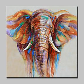 povoljno POP Art-Hang oslikana uljanim bojama Ručno oslikana - Pop art Moderna Uključi Unutarnji okvir / Prošireni platno