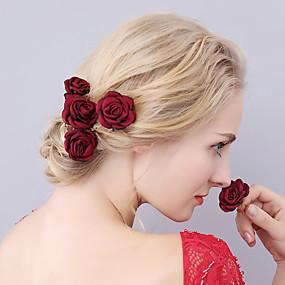 preiswerte Party-Stoff Kopfbedeckung / Haarnadel mit Blumig 1pc Hochzeit / Besondere Anlässe Kopfschmuck