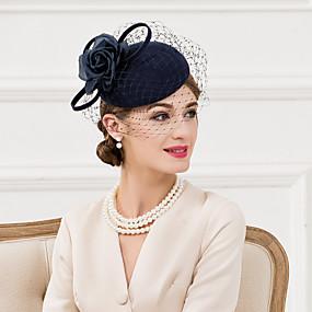povoljno Melbourne Cup Carnival Hats-Žene Vuna Svila Net Glava-Vjenčanje Special Occasion Neformalan Fascinators Šeširi 1 komad