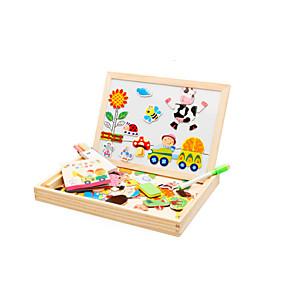 preiswerte 3D-Puzzles-Muwanzi Magnetspielsachen / Holzpuzzle / Bildungsspielsachen Vogel / Schwein / Rosen Tiere / Neuartige Holz Zeichentrick Geschenk