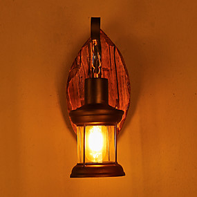 cheap Outdoor Wall Lights-Rustic / Lodge / Vintage / Country Wall Lamps & Sconces Metal Wall Light 220V / 110V 40W