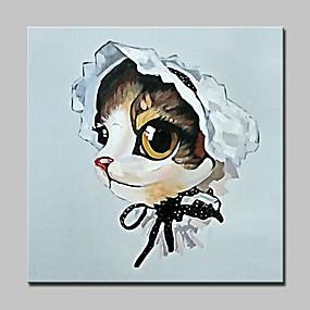 preiswerte Pop Art Ölgemälde-Hang-Ölgemälde Handgemalte - Pop - Art Modern Fügen Innenrahmen