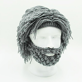 cheap Synthetic Half Wigs-Synthetic Wig Straight Straight Wig Short Grey Synthetic Hair Men's Gray OUO Hair