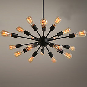 cheap Chandeliers-18 Bulbs Ecolight? 75 cm Designers Chandelier Metal Sputnik Painted Finishes Traditional / Classic 110-120V / 220-240V