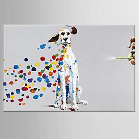 povoljno POP Art-Hang oslikana uljanim bojama Ručno oslikana - Pop art Klasik Moderna Uključi Unutarnji okvir / Prošireni platno