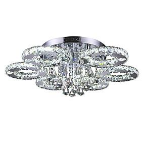 povoljno Moderna Rasvjeta-Flush Mount Ambient Light Chrome Metal Crystal, LED 110-120V / 220-240V Bijela Uključen je LED izvor svjetlosti / Integrirano LED svjetlo