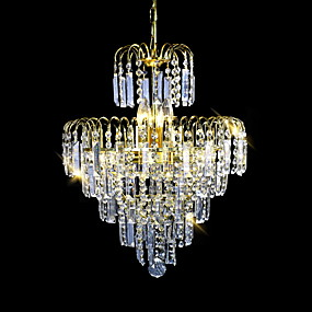 cheap Ceiling Lights & Fans-SL® 6-Light 40 cm Crystal / Candle Style Chandelier / Chandeliers Crystal Electroplated Modern Contemporary 110-120V / 220-240V