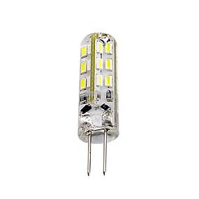 cheap LED Bi-pin Lights-1 piece 1.5W G4 LED Bulb Bi-pin 24 SMD 3014 DC 12V  Green Blue Red Light