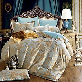 preiswerte Bettbezüge-Bettbezug-Sets Luxus Polyester / Baumwolle Jacquard 4 StückBedding Sets / 300