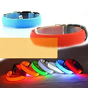 preiswerte Hundehalsbänder & Leinen-Hund Halsbänder LED-Lampen Regolabile / Einziehbar Nylon Grün Blau Rosa