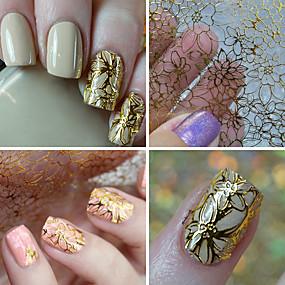 voordelige Nagelkunst-1 pcs 3D Nagelstickers Nagel kunst Manicure pedicure Modieus Dagelijks / 3D-kynsitarrat