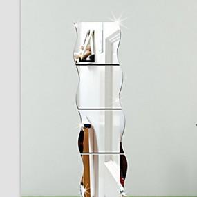 preiswerte Haus Dekor-Formen 3D Wand-Sticker Spiegel Wandsticker Dekorative Wand Sticker, Vinyl Haus Dekoration Wandtattoo Wand
