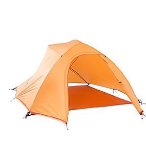 preiswerte Naturehike®-Naturehike 4 Personen Zelte für Rucksackreisen Außen Wasserdicht Tragbar Windundurchlässig Doppellagig Camping Zelt >3000 mm für Jagd Camping Draußen Silikon Polyester Aluminium