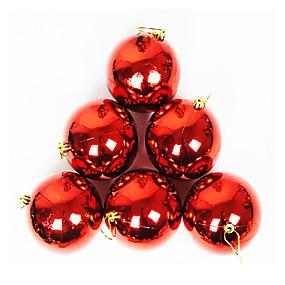 preiswerte Spielzeug für Weihnachten-Bälle Weihnachtsdeko weihnachtsbaum Schmuck Kunststoff Erwachsene Spielzeuge Geschenk 12 pcs