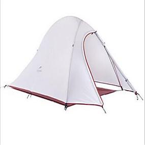 preiswerte Naturehike®-Naturehike 2 Personen Zelte für Rucksackreisen Außen Wasserdicht Regendicht Gut belüftet Doppellagig Camping Zelt für Angeln Strand Reisen Fiberglas