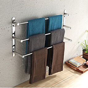 cheap Bath Accessories-Towel Racks 3-Tiers Bath Towel Bar , Stainless Steel, Wall Mount, Mirror polished finished, High quality