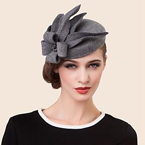 preiswerte EE®-Wolle Strass Legierung Hüte Kopfstück klassischen weiblichen Stil