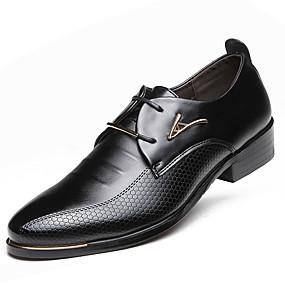 levne Větší obuv-Pánské Společenské boty Umělá kůže Jaro / Podzim Business Oxfordské Voděodolný Černá / Hnědá / Party / Šněrování / Party / Venkovní / Komfortní boty