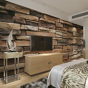 preiswerte Wand- & Ölbilder-Blumen Art Deco 3D Haus Dekoration Moderne Wandverkleidung, Segeltuch Stoff Klebstoff erforderlich Wandgemälde, Zimmerwandbespannung