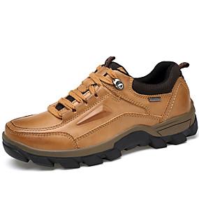 levne Větší obuv-Pánské Společenské boty Nappa Leather Podzim / Zima Oxfordské Hnědá / Party / Party