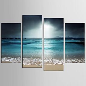 preiswerte Art-Druck Gerollte Leinwand - Landschaft Fantasie Realismus Modern Vier Panele Kunstdrucke