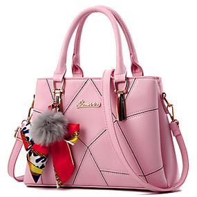 preiswerte Taschen-Damen Spitze PU Tasche mit oberem Griff Künstlerisch gestaltet Schwarz / Weiß / Himmelblau / Herbst Winter