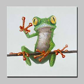 voordelige Schilderijen van dieren-Handgeschilderde Dieren POP Olie schilderijen,Modern Eén paneel Canvas Hang-geschilderd olieverfschilderij For Huisdecoratie