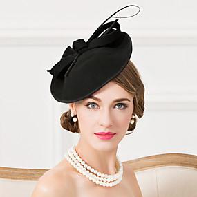 preiswerte EE®-Wolle / Feder Kentucky Derby-Hut / Fascinatoren / Hüte mit 1 Hochzeit / Besondere Anlässe / Normal Kopfschmuck
