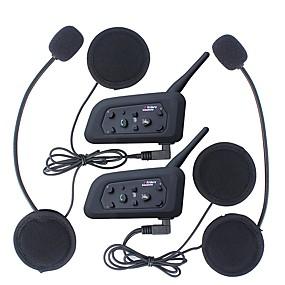 cheap Special Offer-2Pcs 1200M Waterproof Motorcycle Helmet Interphone Bluetooth Intercom Headset V6 Intercom Intercomunicador Moto Interfones Helmet Headset
