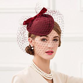 preiswerte EE®-Wolle / Netz / Samt Kentucky Derby-Hut / Fascinatoren / Kopfbedeckung mit Blumig 1pc Hochzeit / Besondere Anlässe / Normal Kopfschmuck