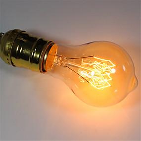 preiswerte Versandfertig in 24 Stunden-1pc 40 W E26 / E27 A60(A19) Warmes Weiß 2300 k Retro / Abblendbar / Dekorativ Glühbirne Vintage Edison Glühbirne 220-240 V