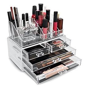 preiswerte Kosmetik-Boxen, Taschen & Töpfe-Kosmetikaufbewahrung Anzeige Bilden Acryl / Kunststoff Others Alltag Alltag Make-up Hohe Kapazität Kosmetikum Pflegezubehör