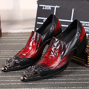 voordelige Wijdere maten schoenen-Heren Nieuwigheidsschoenen Nappaleer Lente / Herfst Oxfords Zwart / Bruiloft / Feesten & Uitgaan / Feesten & Uitgaan / Comfort schoenen