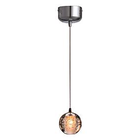 povoljno Viseća rasvjeta-Glob Privjesak Svjetla Downlight Golden Crystal Crystal, Mini Style, LED 110-120V / 220-240V Uključen je LED izvor svjetlosti / Integrirano LED svjetlo
