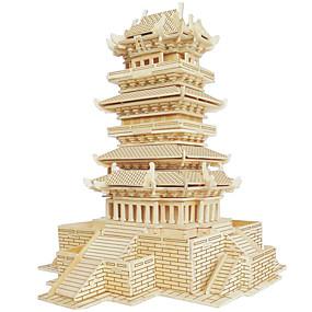 preiswerte 3D-Puzzles-Holzpuzzle Berühmte Gebäude Chinesische Architektur Haus Profi Level Hölzern 1pcs Kinder Jungen Geschenk