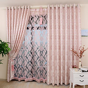 preiswerte Vorhänge und Gardinen-maßgeschneiderte umweltfreundliche Vorhänge Vorhänge zwei Platten Gold / Jacquard / Schlafzimmer