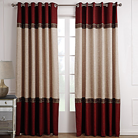 cheap Curtains & Drapes-Custom Made Room Darkening Curtains Drapes Two Panels For Living Room
