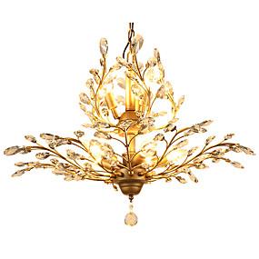 billige Krystall Lys-LightMyself™ 8-Light Krystall Anheng Lys Omgivelseslys Antikk Messing Metall Krystall, LED 110-120V / 220-240V Pære ikke Inkludert / E12 / E14