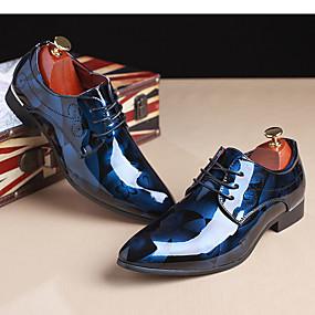 preiswerte Small Size Shoes-Herrn Druck von Oxfords Lackleder Frühling / Herbst Outdoor Hellbraun / Rot / Blau / Party & Festivität / Party & Festivität / Draussen / Komfort Schuhe / EU40