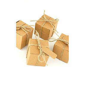 preiswerte Big Heard Love®-kubisch Kartonpapier Geschenke Halter mit Muster Geschenkboxen - 50