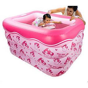 preiswerte Kiddie Pools-more care Kinder-Planschbecken Planschbecken Aufblasbarer Pool Spaß Neuartige Große Größe Spielzeuge Geschenk