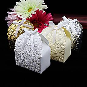 preiswerte Big Heard Love®-Kreisförmig / Quadratisch Kartonpapier Geschenke Halter mit Bänder / Print Geschenkboxen