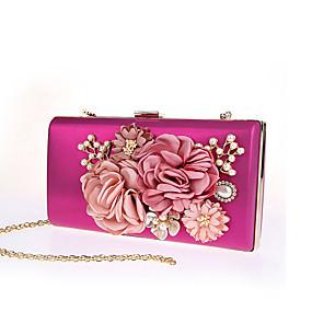 povoljno Cipele i torbe-Žene Umjetni biser / Cvijet Poliester Večernja torbica Vjenčane torbe Cvijetni print Crn / Red / Fuksija