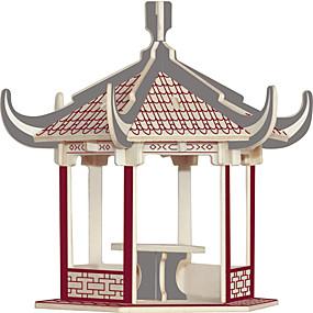 preiswerte 3D-Puzzles-Holzpuzzle Berühmte Gebäude Chinesische Architektur Haus Profi Level Holz 1 pcs Spielzeuge Geschenk
